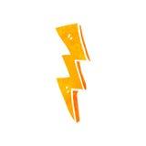 减速火箭的动画片雷电 免版税库存图片