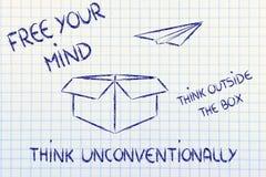 Зрение дела: думайте вне коробки Стоковая Фотография RF