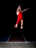 Спортсмен большого скачка Стоковые Изображения