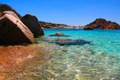 撒丁岛海 库存照片