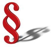 Символ знака параграфа с тенью символа доллара Стоковые Изображения RF