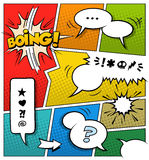 Шаблон страницы комика цвета Стоковое фото RF