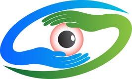 眼睛商标 免版税库存照片
