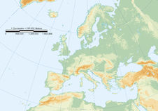 物理欧洲标线 库存图片