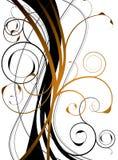 флористическая померанцовая свирль Стоковое Фото
