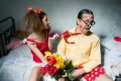 Φιλονικία των συζύγων Στοκ Φωτογραφίες