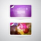 Комплект карточки подарка вектора Стоковая Фотография RF