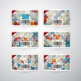 Комплект карточки подарка вектора Стоковые Изображения