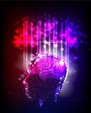 Απεικόνιση δύναμης εγκεφάλου ανθρώπου, αγάπη Στοκ φωτογραφία με δικαίωμα ελεύθερης χρήσης