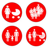 Παιδιά προσοχής σημαδιών Στοκ Εικόνες