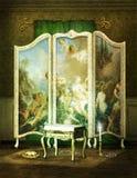 维多利亚女王时代的化装室 库存图片