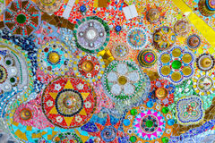 五颜六色的马赛克艺术和抽象墙壁背景。 免版税库存照片