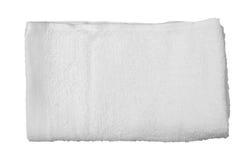 白色毛巾 免版税库存图片