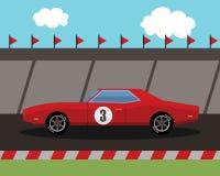 Старый автомобиль спорт на трассе Стоковые Изображения RF
