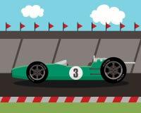 Старый автомобиль спорт на трассе Стоковое Изображение RF