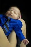 睡觉在工作 免版税库存图片