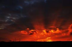 Κόκκινη αυγή Στοκ εικόνα με δικαίωμα ελεύθερης χρήσης