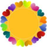 Рамка сердец круглая Стоковая Фотография