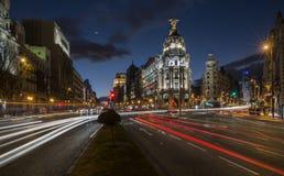 马德里街道  免版税图库摄影