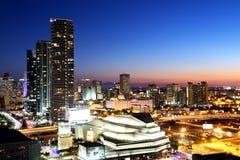 Майами городской на ноче Стоковая Фотография RF