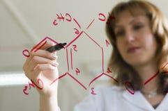 женщина научного работника Стоковые Фото