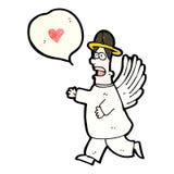 与讲话泡影的动画片天使 库存照片