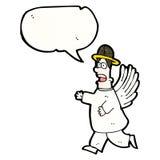 动画片天使,与讲话泡影 免版税库存照片