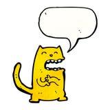 кот шаржа замышляя Стоковое фото RF