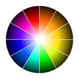 有颜色树荫的三原色圆形图  库存图片
