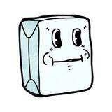 牛奶纸盒漫画人物 图库摄影