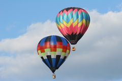 μπαλόνια καυτά δύο αέρα Στοκ Εικόνες