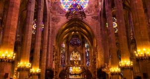 马略卡大教堂 免版税图库摄影