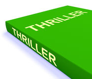 Το βιβλίο θρίλλερ παρουσιάζει βιβλία για τη δράση Στοκ Φωτογραφία
