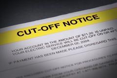 逾期的票据 免版税库存图片