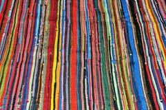 五颜六色的镶边纺织品样式 免版税库存图片