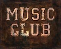音乐俱乐部难看的东西背景 库存照片