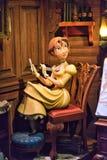 珍妮搬运工雕象,迪斯尼漫画人物 库存照片