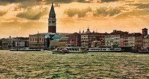 威尼斯式日落 库存图片