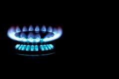天然气火炉燃烧器 免版税库存照片