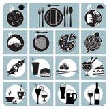 Значки меню ресторана Стоковое Изображение RF
