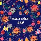 Поздравительная открытка - имейте славный день Стоковые Фото