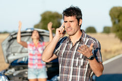 Проблемы перемещения дороги автомобиля Стоковое Фото
