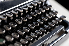 年迈的打字机钥匙 图库摄影