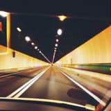 勃朗峰隧道 免版税库存图片