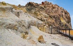 硫磺岩石 免版税库存图片