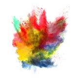 Χρωματισμένη σκόνη Στοκ Φωτογραφίες