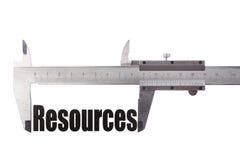 测量的资源 免版税库存图片