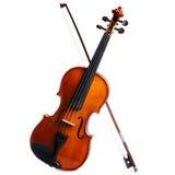在白色背景隔绝的小提琴 免版税库存照片