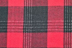 红色格子呢织品 免版税库存照片