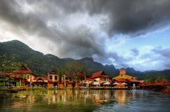 东方村庄,凌家卫岛,马来西亚 免版税库存图片